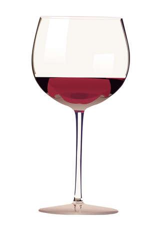 Verre de vin rouge illustration Banque d'images - 4235869