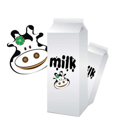Un ejemplo de un envase de leche Foto de archivo - 4378224