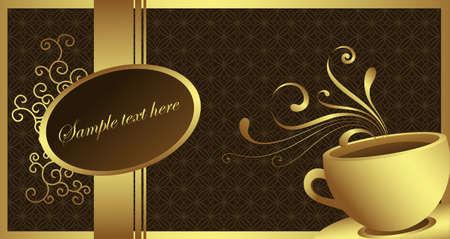 Golden Café Banque d'images - 4417966