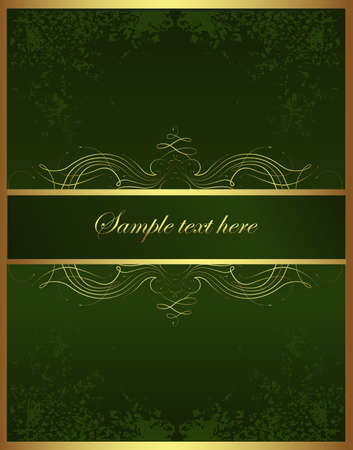 Golden Brochure Vector