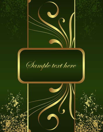 Golden Brochure Stock Vector - 4417970