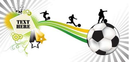 Soccer (sur fond blanc) Banque d'images - 4417969