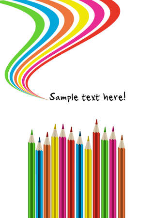 primary: Colorful pencils