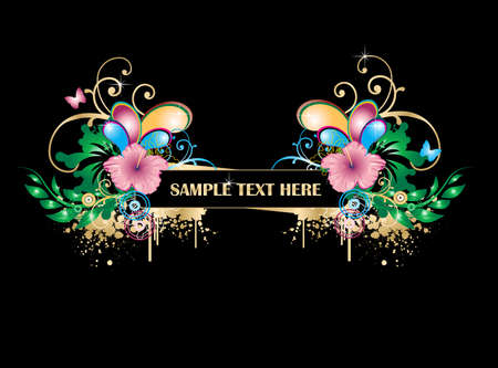 Floral abstract Stock Vector - 4449616