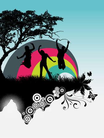 People dancing Stock Vector - 4538463