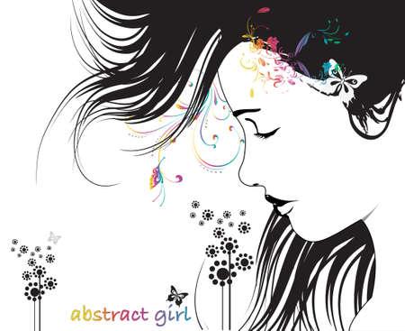 Abstract woman profile Stock Vector - 4576782