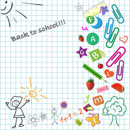 Back to school Stock Vector - 4722625