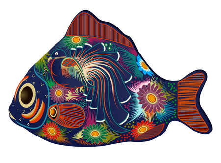 psychedelic background: Tropical Fish