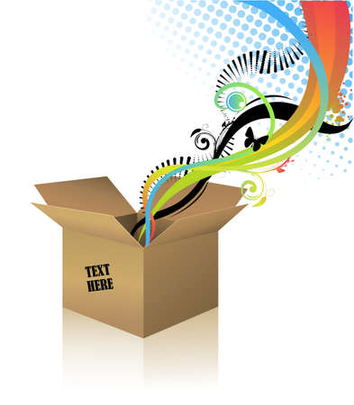 Boîte en carton Banque d'images - 4794446