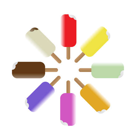 Colorful Popsicles