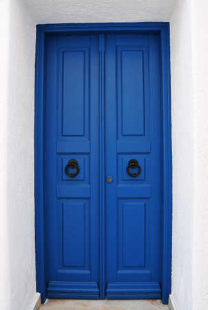 Cycladic blue door
