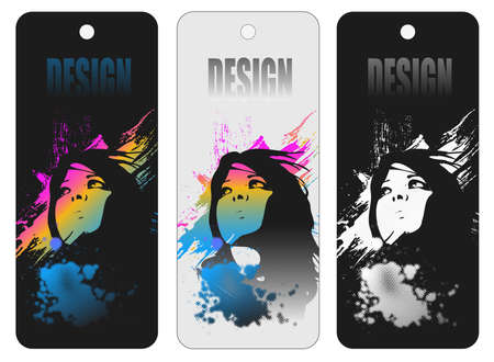 Design tags-labels Illustration