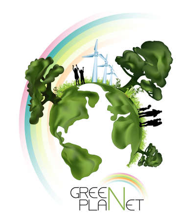 Green Planet Illustration