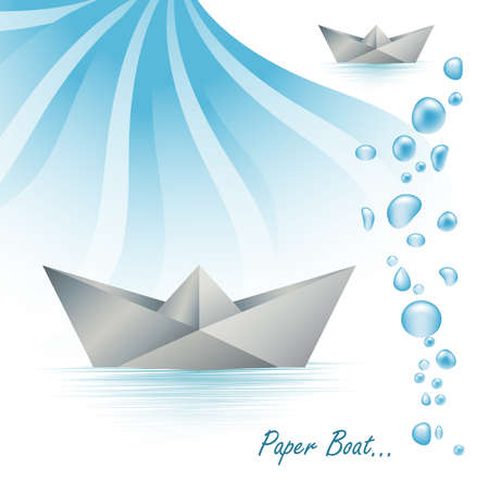 Paper boat Stock Vector - 5702121