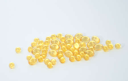 Transparent fish oil on the background. Background is not isolated