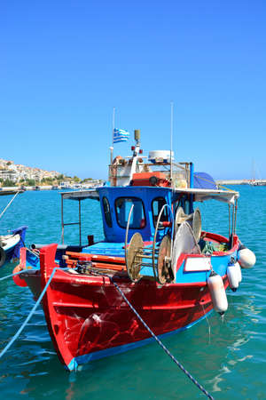 Greek fishing boat in Sitia photo