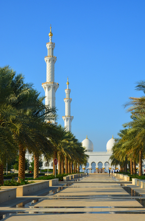 street creed: A park near the Sheikh Zayed Mosque in Abu Dhabi, UAE