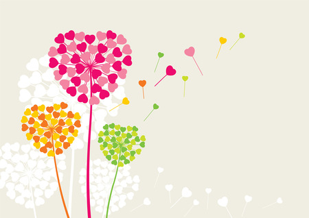 Flowers like a heart of love Vector