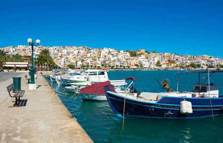 Greek fishing boats in Port of Sitia, Crete  photo