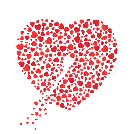 Heart with a wound of love  Pierced through the heart of flowing out love  Vector
