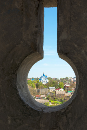 loopholes: The view from the loopholes of the Old Castle at Kamyanets-Podilsky, Ukraine