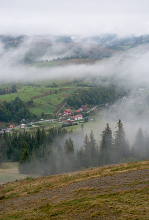 chalets: Chalets in the mountains. Mountain landscape