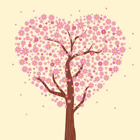 flowering: Flowering tree of love Illustration