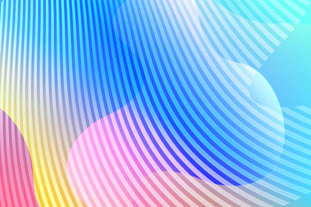 Abstract background with colorful fluid shapes, gradient waves, geometric lines, dynamical forms. Design for poster, banner, card. Abstract liquid illustration. 3D paper images with a subtle blend.