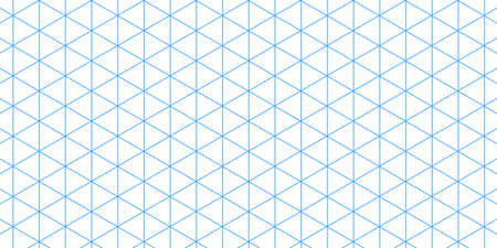 Grid paper. Isometric color grid on white background. Abstract lined transparent illustration. Geometric pattern for school, copybooks, notebooks, diary, notes, banners, print, books