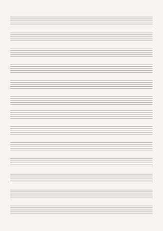 Grid paper with stave on a white background. A blank music sheet paper with staff. Geometric pattern for composition, education, school. A4 size