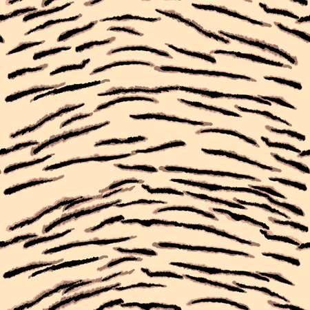 Abstract modern tiger seamless pattern. Animals trendy background. Beige and black decorative vector stock illustration for print, card, postcard, fabric, textile. Modern ornament of stylized skin