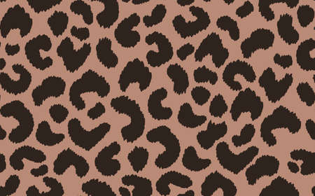 Abstract modern leopard seamless pattern. Animals trendy background. Beige and black decorative vector stock illustration for print, card, postcard, fabric, textile. Modern ornament of stylized skin Ilustración de vector