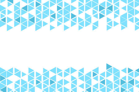 Polygonal blue mosaic background. Abstract low poly vector illustration. Triangular pattern, copy space. Template geometric business design with triangle for poster, banner, card, flyer Stock Illustratie