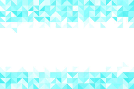 Polygonal blue mosaic background. Abstract low poly vector illustration. Triangular pattern, copy space. Template geometric business design with triangle for poster, banner, card, flyer. Copy space