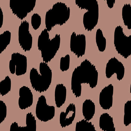 Abstract modern leopard seamless pattern. Animals trendy background. Beige and black decorative vector stock illustration for print, card, postcard, fabric, textile. Modern ornament of stylized skin