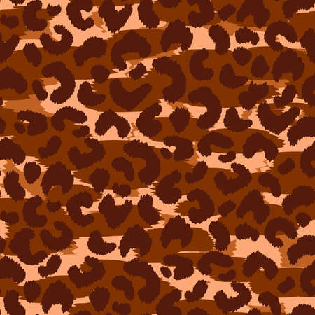 Abstract modern leopard seamless pattern. Animals trendy background. Brown and black decorative vector stock illustration for print, card, postcard, fabric, textile. Modern ornament of stylized skin Stock Illustratie