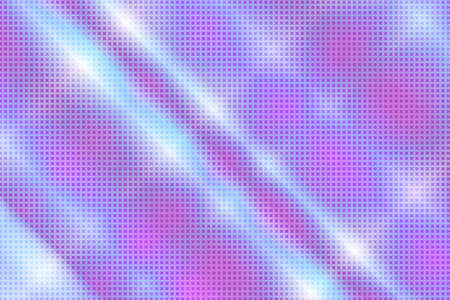 90-s style. Creative illustration in halftone style with pink and blue gradient. Abstract colorful geometric background. Pattern for wallpaper, web page, textures