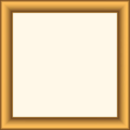 Squared golden vintage wooden frame for your design. Vintage cover. Place for text. Vintage antique gold beautiful rectangular frames for paintings or photographs. Template vector illustration