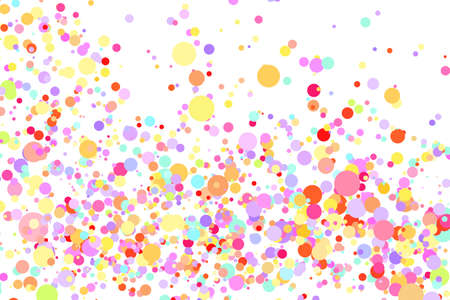 Light multicolor background, colorful vector texture with circles. Splash effect banner. Glitter dotted abstract illustration with blurred drops of rain. Pattern for web page, banner. Copy space