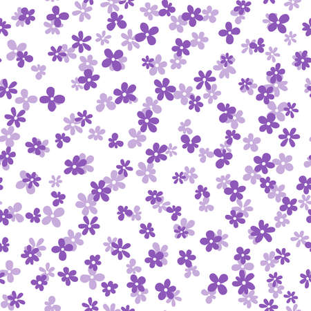 Floral seamless with hand drawn color flowers. Cute summer background. Modern floral compositions. Fashion vector stock illustration for wallpaper, posters, card, fabric, textile Stock Illustratie