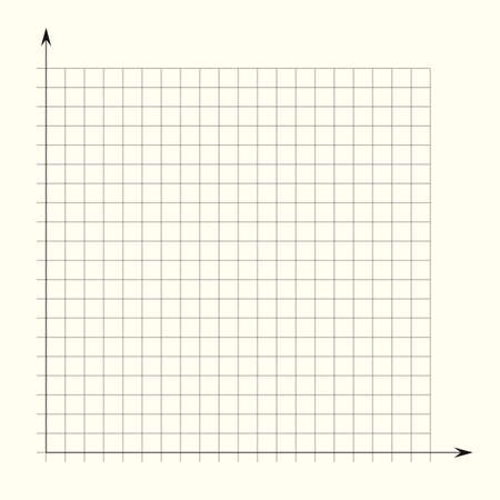 Grid paper. Mathematical graph. Cartesian coordinate system with x-axis, y-axis. Squared background with color lines. Geometric pattern for school, education. Lined blank on transparent background Stock Illustratie