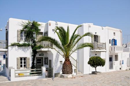 Typical Greek houses on Mykonos Island, Greece Editorial