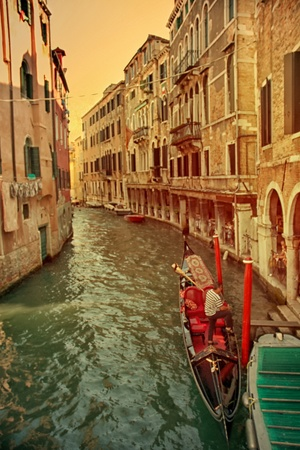 Around the Canal, Venice Series Stock Photo