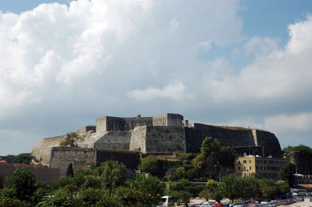 The new fortress at Corfu, Greece