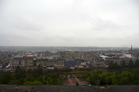 A view from within Edinburgh Castle looking out over the city Editorial