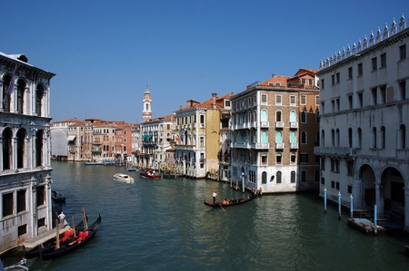 Grand canal of Venice, Italy photo