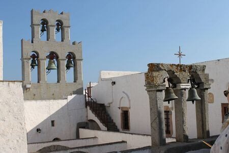 Bells of the Monastery of St  John in Patmos  photo