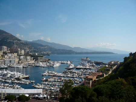 View of luxury yachts in harbor of Monaco photo