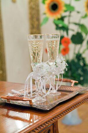 wedding glasses photo