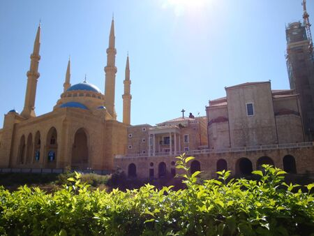 amine: The Magnificent Mohammed el-Amine Mosque  Beirut- Lebanon                                  Stock Photo